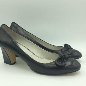 Franco Sarto Dill classic black heel pump shoes